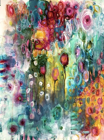 botanical abstract by artist marabeth quin