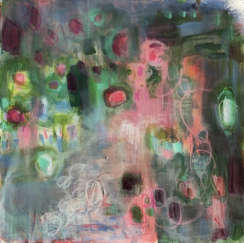 abstract botanical by nashville Artist Marabeth Quin