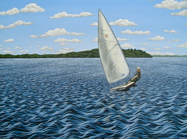 Christina Preece canadian landscape artist art painting sailing