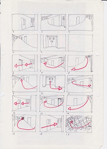 Storyboard for Sequence in Automan Music Video