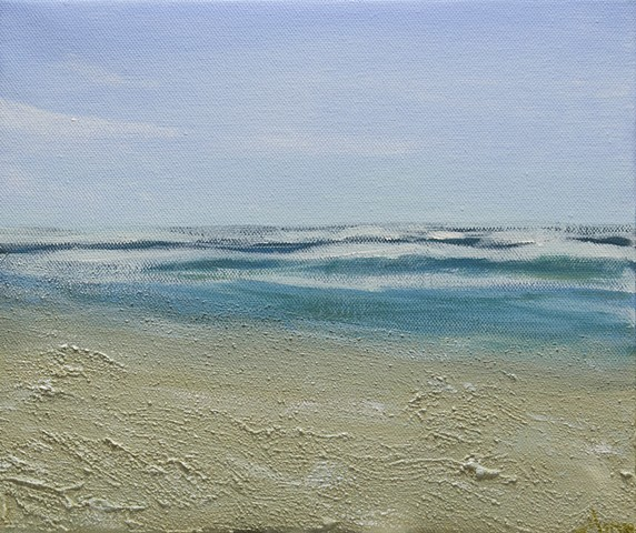 Impressionist beach painting