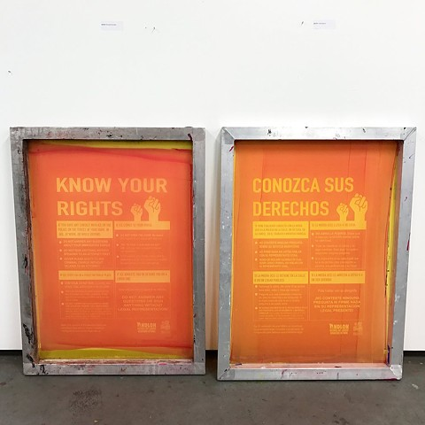 Know Your Rights Campaign Posters