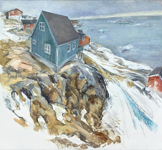 Oil painting of Greenland by Marcia Clark
