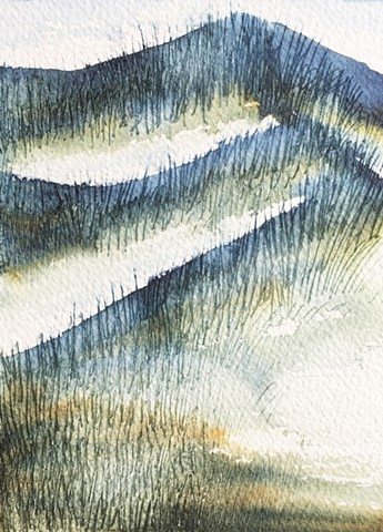 watercolour painting, landscapes, western australia, australianartist, wilderness, dunes