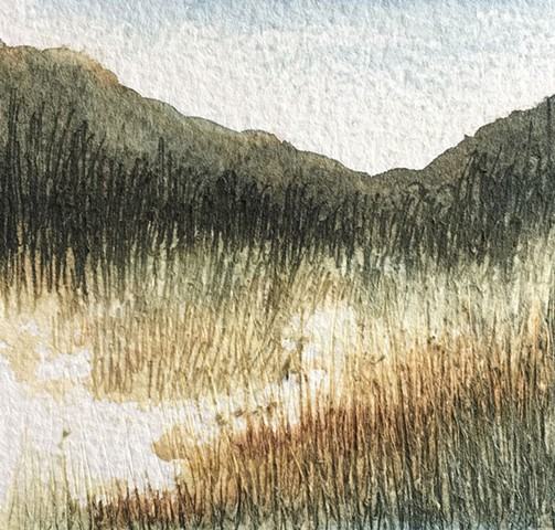watercolour painting, landscapes, western australia, australianartist, wilderness, summer