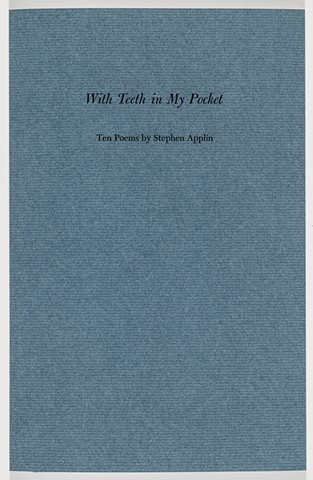 With Teeth in My Pocket, regular edition cover