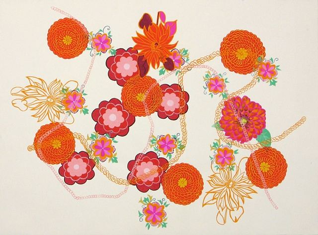 Florilegium Series #5 (reep compositae gaillardia dweorh potentilla melta rudbeckia hirta)