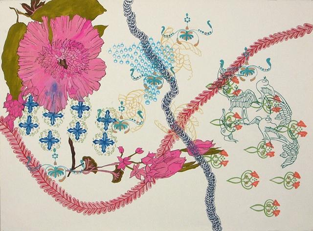 Florilegium Series #4 (villus chiffe sidalcea malvacea chaeine avis embelliss)