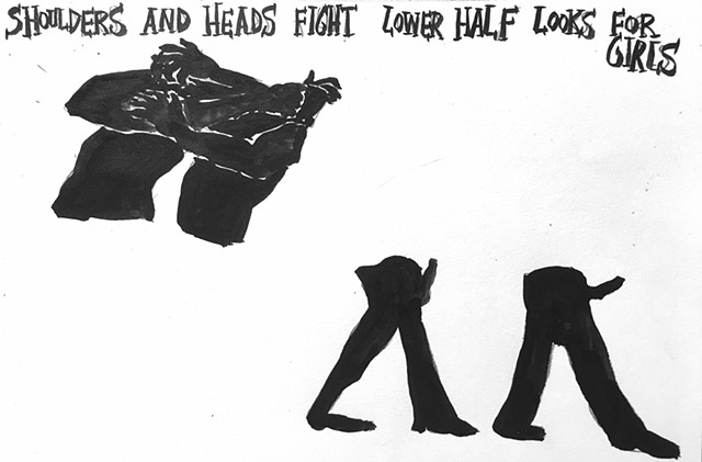 shoulders and heads fight lower half looks for girls