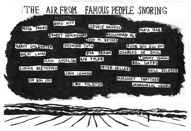 the air from famous people snoring