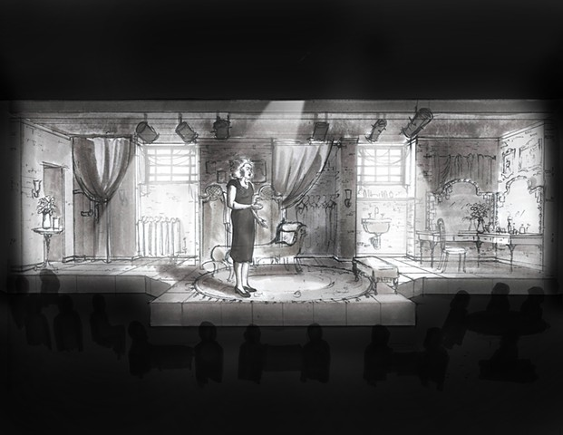 Songs for Nobodies - Milwaukee Repertory Theater - marker rendering