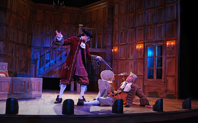 Sean Fanning Scenic Design, Sean Fanning Set Design, Beaux Stratagem, University of San Diego