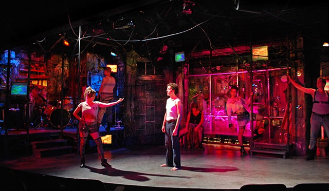 Sean Fanning set design for Pippin at Diversionary Theatre directed by James Vasquez, San Diego
