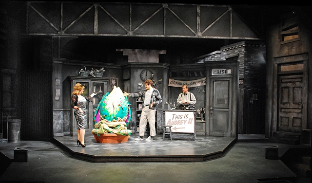 Little Shop of Horrors at the Cygnet Theatre in Old Town.  Directed by Sean Murray, set design by Sean Fanning