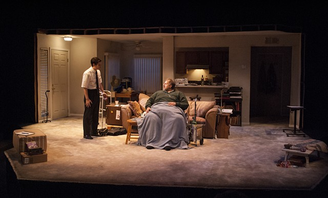 Sean Fanning Scenic Design, Cygnet Theatre, The Whale by Samuel L. Hunter, Directed by Shana Wride, Set Design