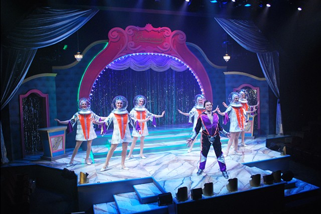 Scenic Design by Sean Fanning, Pageant at Cygnet Theatre, directed by James Vasquez, San Diego, costumes by Shirley Pierson