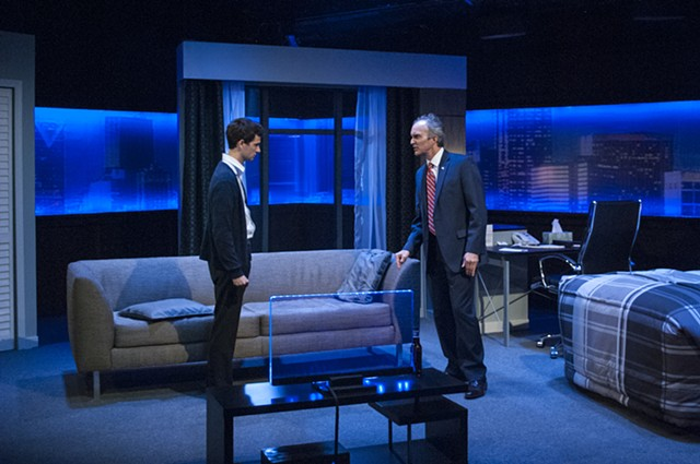 Now or Later by Christopher Shinn at Diversionary Theatre, Directed by Matt Morrow, Scenic Design by Sean Fanning