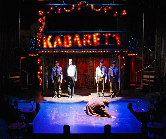 Cabaret at the Cygnet Theatre, directed by Sean Murray.  Set Design by Sean Fanning.  Winner of the 2012 San Diego Critics Circle Award for Best Resident Musical