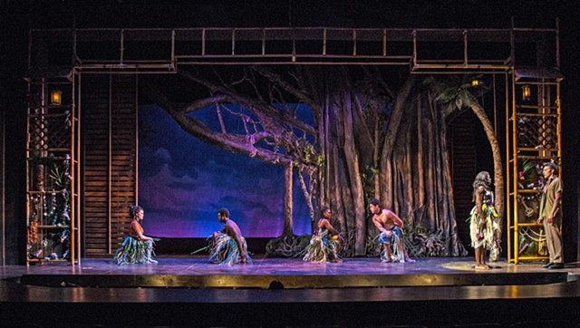South Pacific by Rodgers and Hammerstein at Summer Repertory Theatre Scenic Design by Sean Fanning