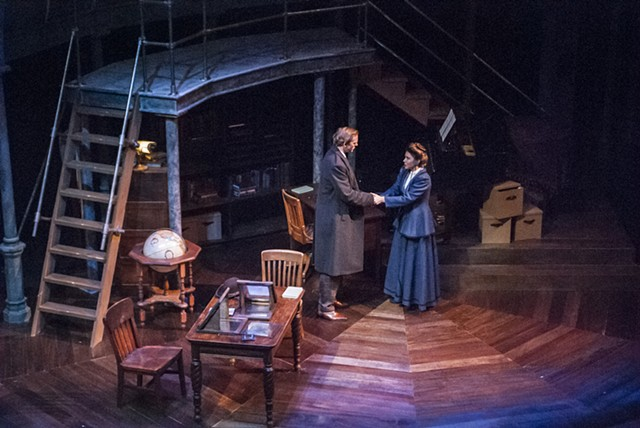 Sean Fanning Scenic Design for Silent Sky by Lauren Gunderson at Lamb's Players Theatre