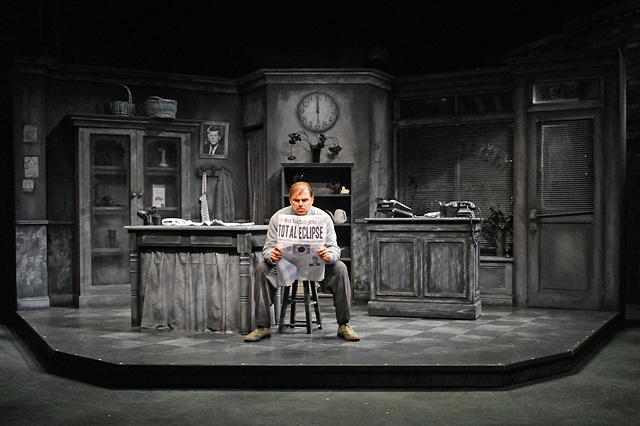 Phil Johnson in Little Shop of Horrors at the Cygnet Theatre in Old Town.  Directed by Sean Murray, set design by Sean Fanning