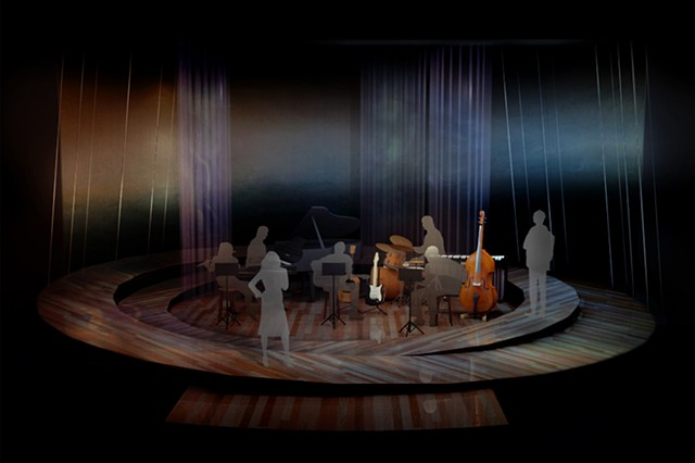 Sean Fanning Scenic Design for Everybody's Talkin': The Music of Harry Nilsson directed by Javier Velasco at San Diego Repertory Theatre