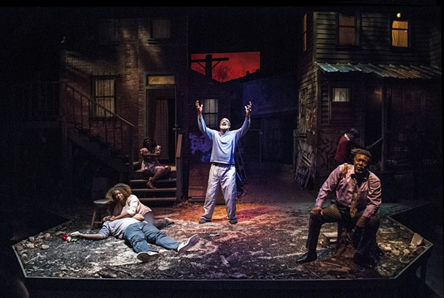 King Hedley II, by August Wilson, directed by Jennifer L. Nelson, scenic design by Sean Fanning, Cygnet Theatre Company.