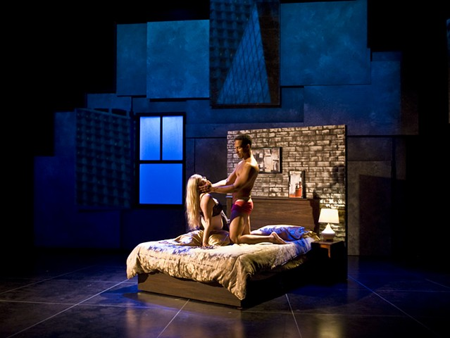 Sean Fanning Set Design, San Diego Repertory production of Honky by Greg Kalleres, directed by Sam Woodhouse.