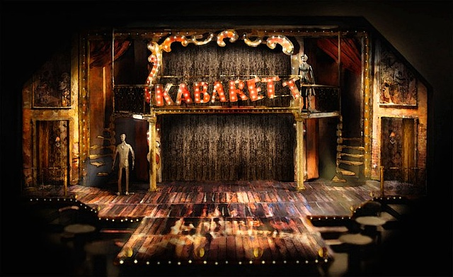 Set design model for Cabaret at the Cygnet Theatre, directed by Sean Murray.  Set Design by Sean Fanning.  Winner of the 2012 San Diego Critics Circle Award for Best Resident Musical