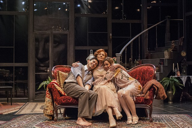 Noel Coward's Hay Fever at Cygnet Theatre directed by Rob Lutfy, Scenic Design by Sean Fanning