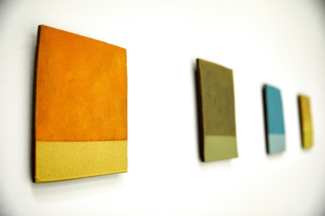 COLOR PAGES ceramic wall pieces