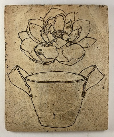 Lotus and Bucket Drawing