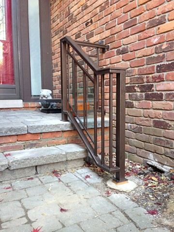 Handrail with Glass Inserts, Birmingham