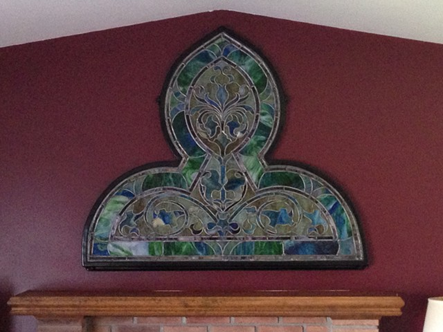 Stained Glass Church Window Repair and Frame, Novi