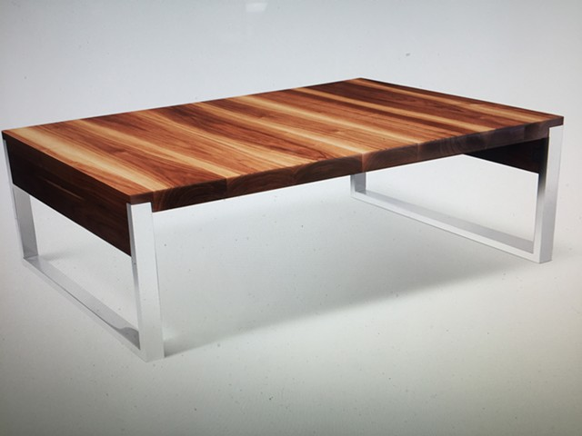 Coffee Table, Farmington Hills  Collaboration with Greg Fredrick of Oakwood Studios