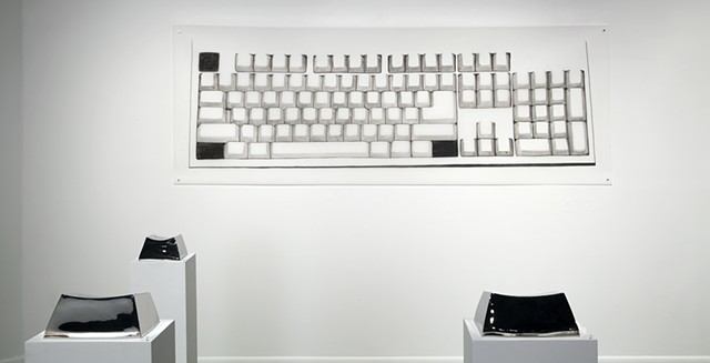 Installation View: Keyboard Context (Sometimes We Have To Believe In Things We Cannot See)