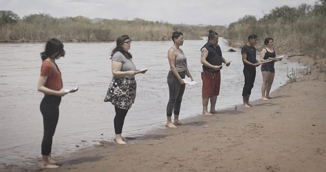 There Must Be Other Names for the River - acoustic performance on the banks of the Rio Grande, April 2019