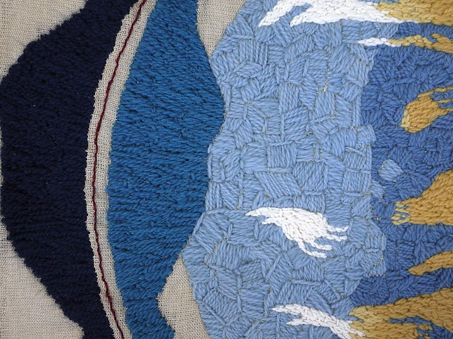 Wind Mirror (textile detail 1)