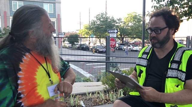 Michael Workman - Survey Interview with Gonzo (aka the Mayor of Triangle Park) at the 48 Hours Summit of Socially-Engaged Art, 2018
