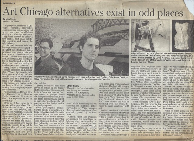 Chicago Tribune Article on Artboat 2003