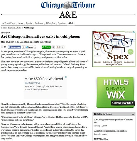Chicago Tribune Article on Artboat, Part 1