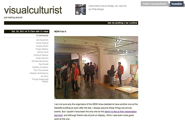 Visual Culturist Review of Frank Pollard at the MDW Fair 2011, Page 1