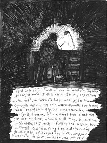 Envy the Dead, Uncompleted Graphic Novel Manuscript, Page 4