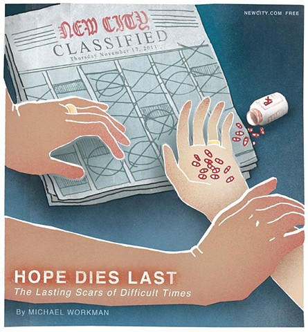Hope Dies Last: The Lasting Scars of Difficult Times, Newcity, Cover