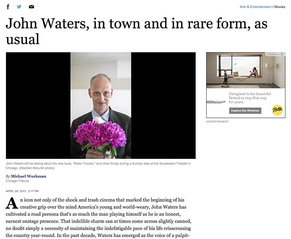 Chicago Tribune Interview with John Waters, Part 1