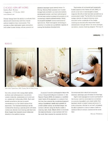Contemporary Magazine, Sabrina Raaf Review