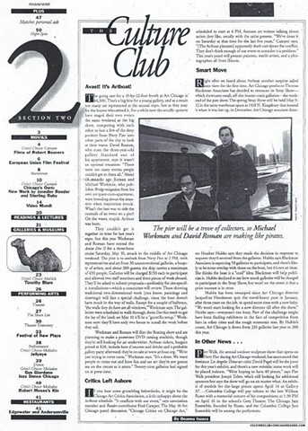 Chicago Reader article on Artboat 2003, #1