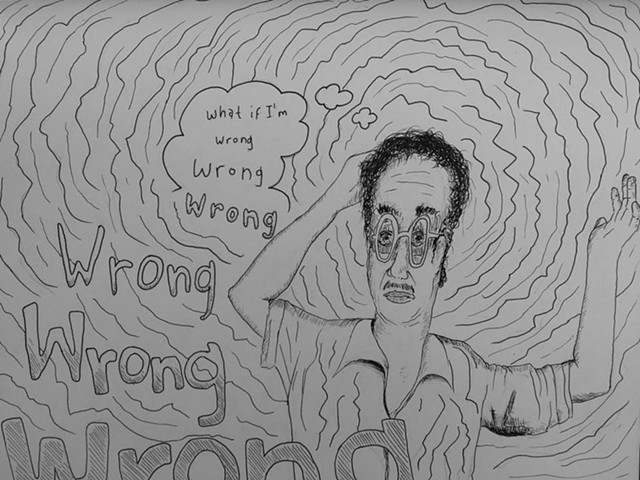 What if I'm Wrong?, pen and ink on archival journal paper
