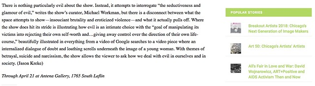 Newcity Review of Evil Is Interesting, 2012, Page 2