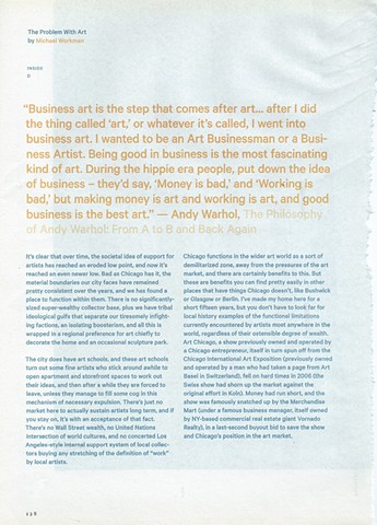 The Problem With Art, Essay Page 1
